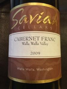 Saviah Cellars Cabernet Franc 2009